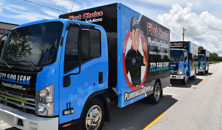 First Choice Plumbing Solutions - Trucks