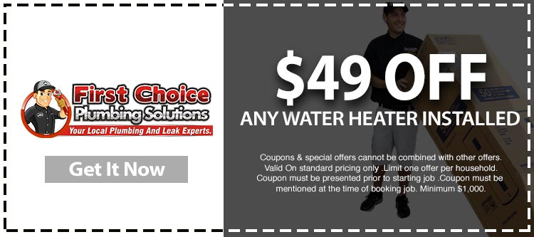 discount on water heater installation